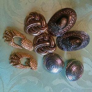 4 sets vintage clips